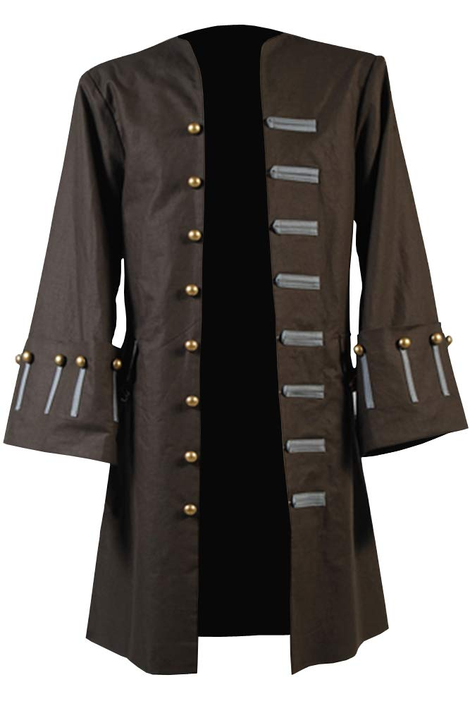 Cosplaysky Halloween Jack Sparrow Costume Pirates of The Caribbean 4 Cosplay Coat XXX-Large by Cosplaysky (Image #2)