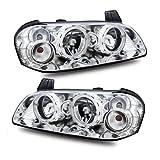 03 maxima headlight assembly - SPPC Headlights Halo Chrome For Nissan Maxima - (Pair)