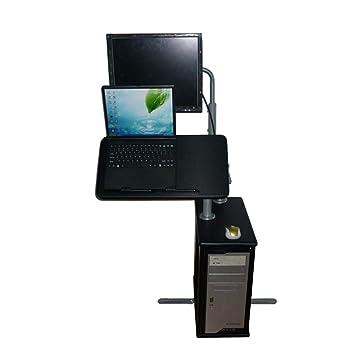 LHA Tabla Ajustable de la Bandeja del Ordenador portátil del Soporte del Ordenador portátil con el cojín de ratón, Tabla del Ordenador portátil, ...