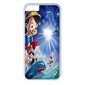 iPhone 6 Plus Case,Fashion Durable White Side design for iPhone 6 Plus(5.5 inch),PC material Phone Cover,Designed Specially Pattern with Pinocchio.