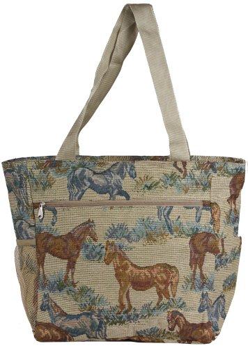 World Traveler Horse Tapestry 19-inch Travel Tote Bag