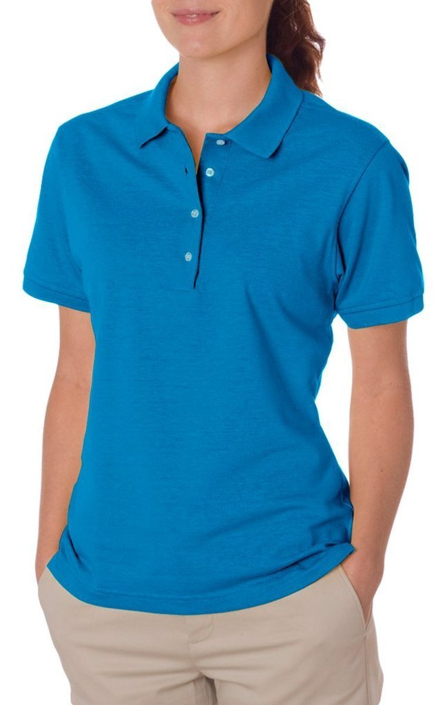 Jerzees Ladies' 5.6 oz., 50/50 Jersey Polo with SpotShield 437W Jerzees Ladies' 5.6 oz.