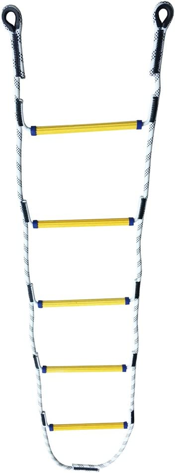 Aoneky 5.9 ft Nylon Climbing Rope Ladder for Kids or Adult - Playground Hanging Ladder for Swing Set - Tree Ladder Toy for Boys Children Aged 6-12 Years Old