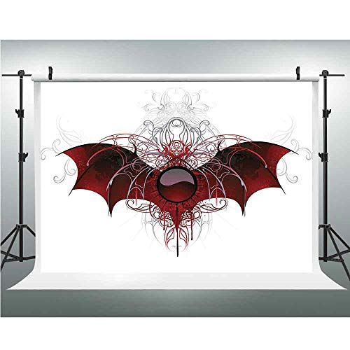 - Backdrops for Photography,Vampire,Background Photo Booth,10x10ft,Round Figure with Dragon Wings Grungy Display Victorian Ornaments Antique Style Decorative