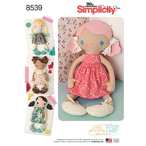 Stuffed Doll Pattern - Simplicity Patterns US8539OS Sewing Pattern Crafts, One Size