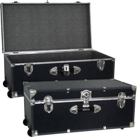 Mercury Luggage Seward Trunk Wheeled Storage Footlocker, 30'' /Model: 6113-18 /color: Black by Generic
