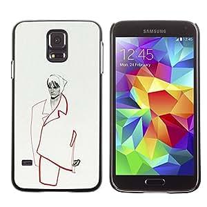 TopCaseStore / la caja del caucho duro de la cubierta de protección de la piel - Woman Couture - Samsung Galaxy S5 SM-G900