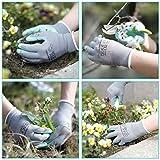 HAUSHOF Garden Gloves for Women, Nitrile Coated