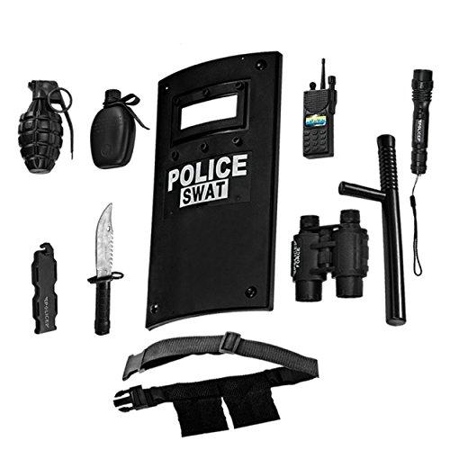 Ultimate tout-en-un ensemble de jeu de rôle policier pour les enfants - Comprend SWAT Shield, ceinture réglable, lampe… 1