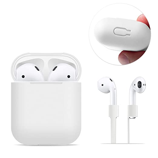 6 opinioni per AirPods Case Protective, FRTMA Silicone Skin Case with Sport Strap for Apple