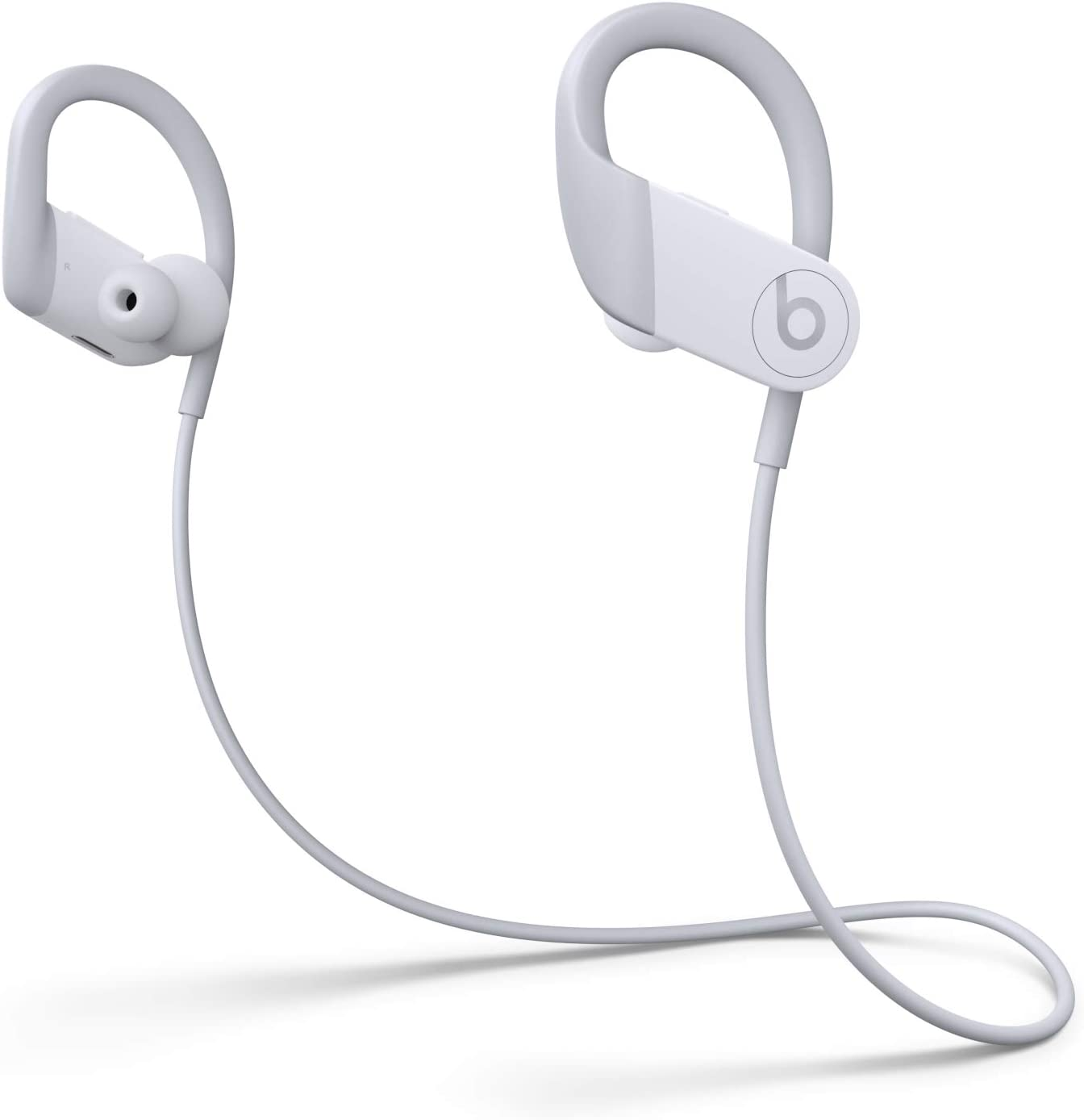 Powerbeats High-Performance Wireless Earphones - Apple H1 Headphone Chip, Class 1 Bluetooth, 15 Hours of Listening Time, Sweat Resistant Earbuds - White (Latest Model)