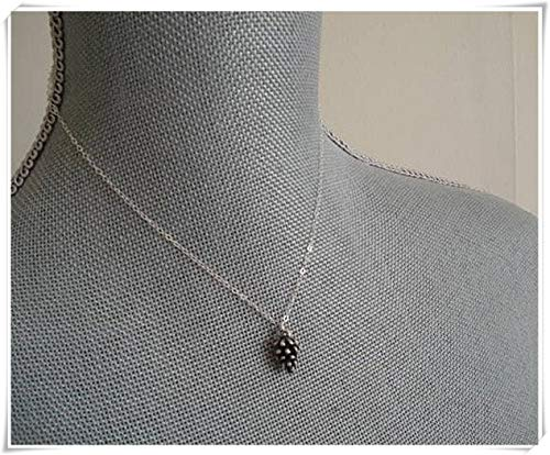Pinecone Necklace, Silver Pinecone Pendant Necklace Jewelry, Sterling Silver Chain Winter Pinecone