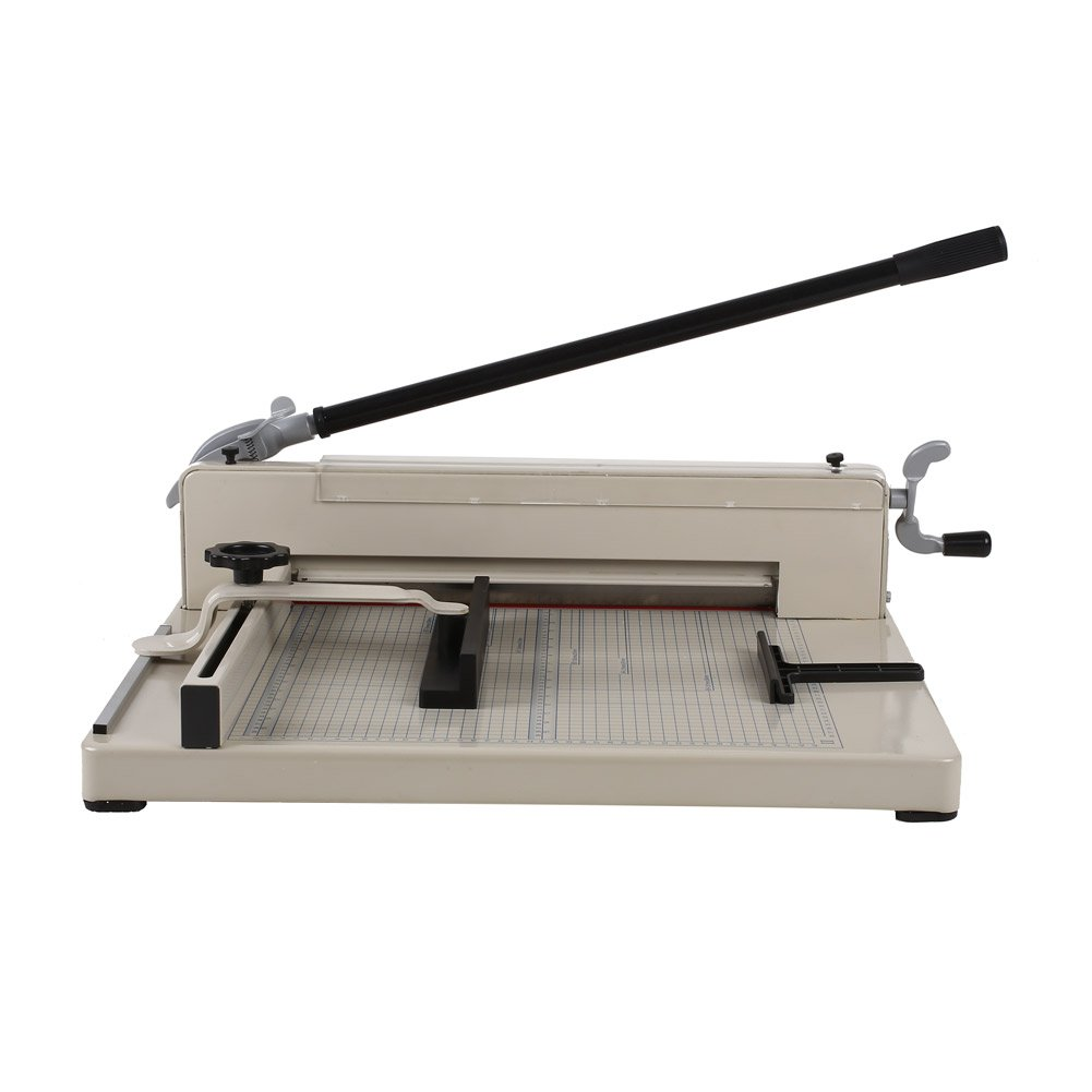 Amzdeal ® 17'' Steel Heavy Duty Manual Guillotine Paper Cutter Trimmer Machine White w/ Inches Ruler Capacity 400 Sheets A3 for Office Commercial Photocopy Printing Shop by Amzdeal (Image #2)