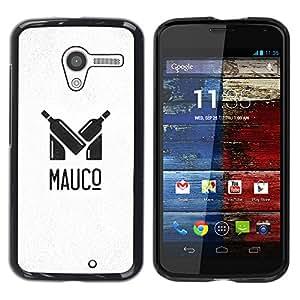 YOYOYO Smartphone Protección Defender Duro Negro Funda Imagen Diseño Carcasa Tapa Case Skin Cover Para Motorola Moto X 1 1st GEN I XT1058 XT1053 XT1052 XT1056 XT1060 XT1055 - vino, grande y pequeña botella