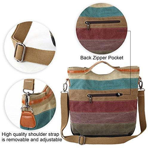 Donne Tela Borse Tote / Borse a tracolla / Retro Totes / sacchetto del messaggero / sacchetto di spalla - Strisce