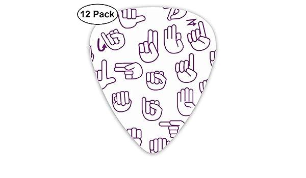 Tossed Sign Language ASL Alphabet On Purple_884 Classic Celluloid ...
