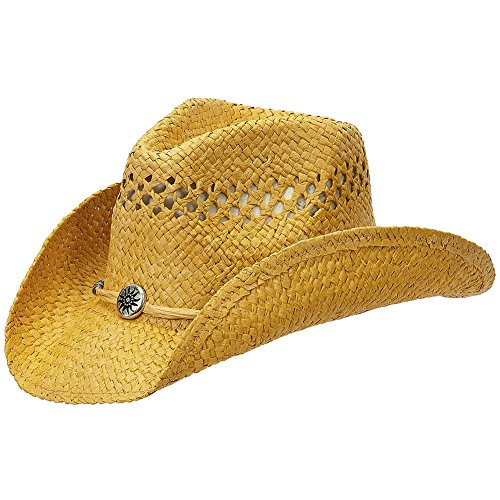 Shapeable Straw Country Cowboy Hat (Mustard)