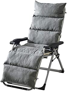 Patio Chaise Lounger Cushion for Chaise Lounge Chair Indoor, Outdoor, Office Lounge Chair Suede Cushion,Gray,50155cm