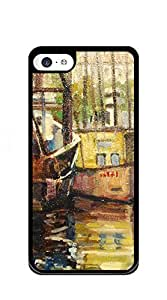 Custom Cover Case with Hard Shell Protection iphone 5c cases for boys - watercolor night port