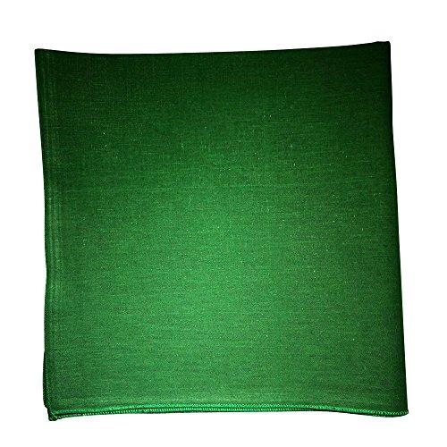 One Dozen Solid Plain Colors 100% Cotton Bandana - 12 Pack by M.H.I. ( 14 Colors) (Green)