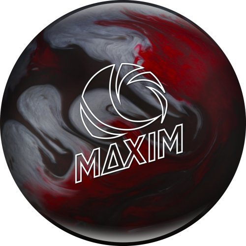 Ebonite Maxim Captain Odyssey Bowling Ball, Red/Silver/Black Cherry, 8 lb