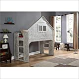 Donco Kids 007D Club House Tall Loft Bed, Twin, Brushed Driftwood