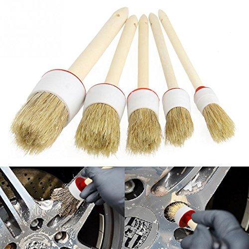 Auto Detailing Juego de brochas Cepillos de detalles de automóviles perfecto para limpieza de llantas, salpicadero,...