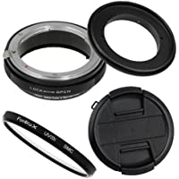 Fotodiox RB2A 77mm Macro Reverse Ring Kit w/ Nikon G & DX Lens Aperture Control, Lens Cap & 52mm UV Protector