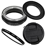 Fotodiox RB2A 67mm Macro Reverse Ring Kit w/Nikon G & DX Lens Aperture Control, Lens Cap & 52mm UV Protector