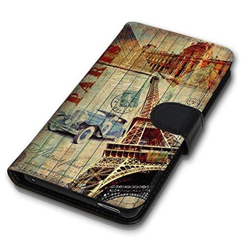 Wallet Book Style Flip Handy Tasche Case Schutz Hülle Schale Motiv Etui für Apple iPhone 5 / 5S - Design Flip MVD313