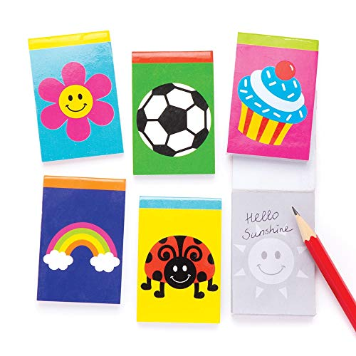 Baker Ross Novelty Notebooks (Pack of 12) Perfect for Goodie Bags, Halloween Party Favours, Pinata Filler or Birthday Present]()