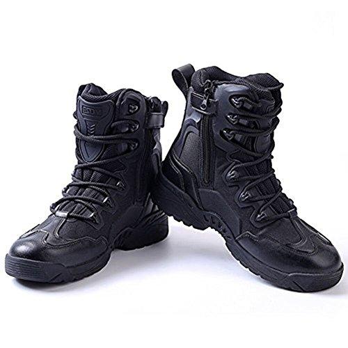 Armée Newbestyle Cuir Chaussures Bottes Combat Désert Randonnée Tactique De Chaussure Militaire Hommes Sécurité Noir Recrues Patrouille rrYdzwq