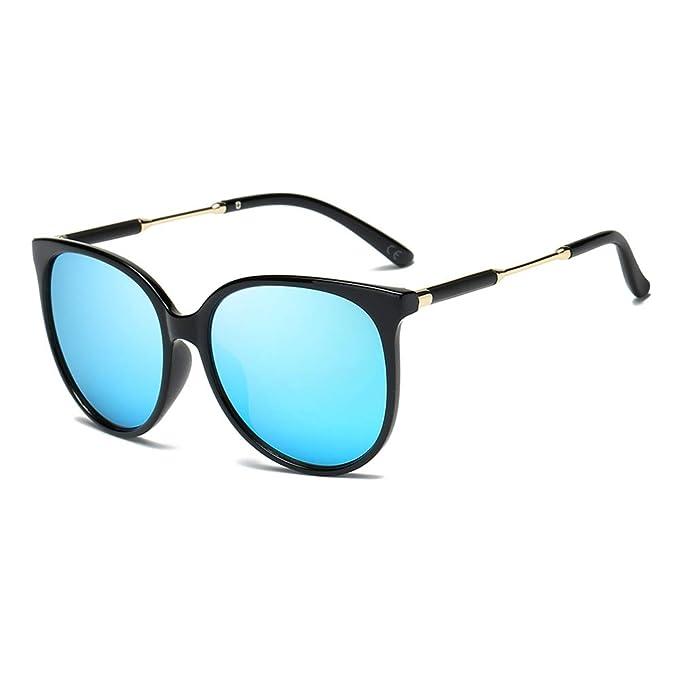 7e3a5149cb AMZTM Gafas de Sol Clásicas para Mujer Polarizadas Gafas Redondas Retro  Vendimia Gafas Ojo de Gato