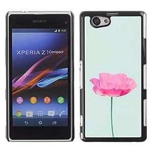 For Sony Xperia Z1 Compact / Z1 Mini / D5503 Case , Poppy Sun Flower Spring Nature - Diseño Patrón Teléfono Caso Cubierta Case Bumper Duro Protección Case Cover Funda