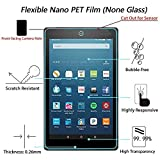 [Pack of 3] New Fire HD8 2016 Screen Protector, Gzerma Ultra-Thin Shatterproof Bubble Free Easy to Install Protective Film with 2.5d Rounded Edges for Amazon Kindle New Fire HD 8 inch Display Tablet