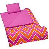 Wildkin Sleeping Bag, Zigzag Pink