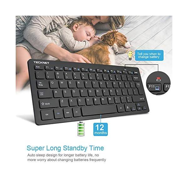 Wireless Keyboard, TeckNet 2.4GHz Ultra Slim Portable Compact Size Whisper-Quite Small Wireless Keyboard for PC, Desktop…