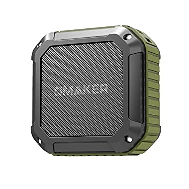 Omaker M4 Portable Bluetooth 4.0 Speaker with 12 Hour Playtime for Outdoors or Shower(Army Green)