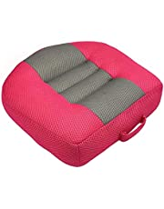 DIIQII Car Booster Seat Cushions Heightening Height Boost Mat, Breathable Mesh Portable Adult Car Booster Seat for Short Drivers Ideal for Car, Office, Home