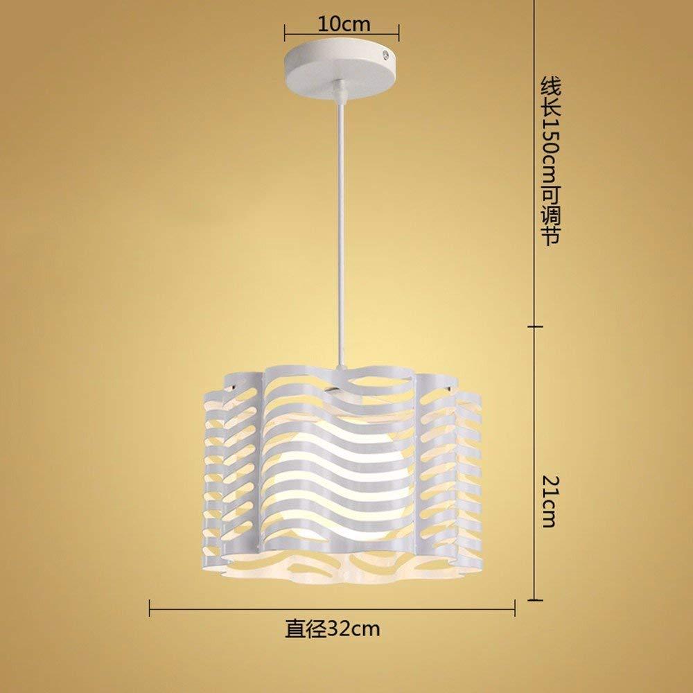 FuweiEncore Kronleuchter Pendelleuchte Industrielle Air Lounge Schlafzimmer Wohnzimmer Lampe 9 Watt Weiß LED 32  21 cm