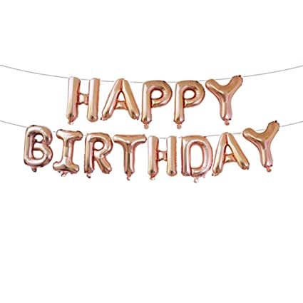 Amazon Shuxy Aluminum Foil Banner Balloons Hanging Happy Birthday Letter For Party Decorations And Supplies