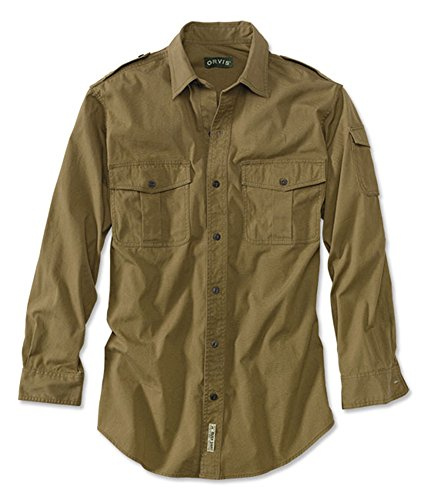Orvis Men's Bush Shirt/Regular, British Tan, Large (Safari Big Shirt)