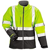Phase 3 Jacket – Fluorescent Yellow-Green-Charcoal Gray - Silver Reflective Tape - XL