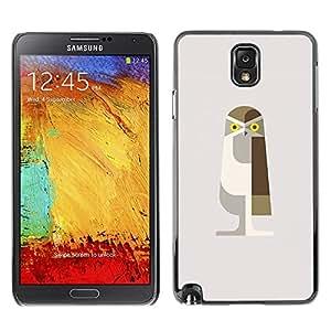 TopCaseStore / la caja del caucho duro de la cubierta de protección de la piel - Owl Bird Polygon Art Brown Minimalist - Samsung Galaxy Note 3 N9000 N9002 N9005