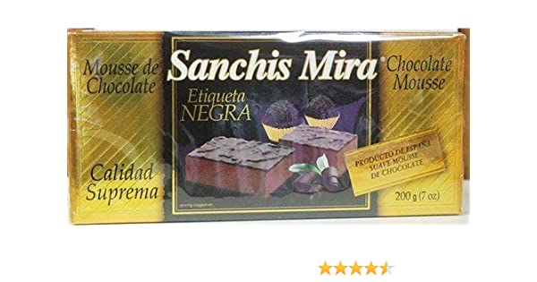 Amazon.com : Sanchis Mira Turron Mousse de Chocolate : Grocery & Gourmet Food