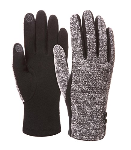 EBMORE Girls Womens Touch Screen Thick Warm Winter Gloves For Cold Weather (Black) (Home Costumes Ideas)