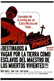 The Plague of The Zombies Poster Spanish 27x40 Andre Morell John Carson Diane Clare