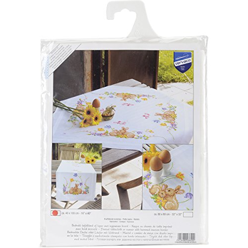 Vervaco Rabbits Table Runner Stamped Embroidery Kit, 16