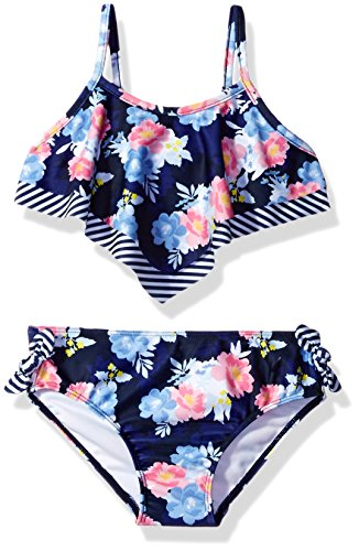 Nautica Stripe Floral Double Flounce