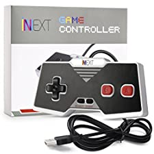 Classic USB NES Controller, iNNEXT USB Famicom Controller Joypad Gamepad for Windows PC / MAC (Red)